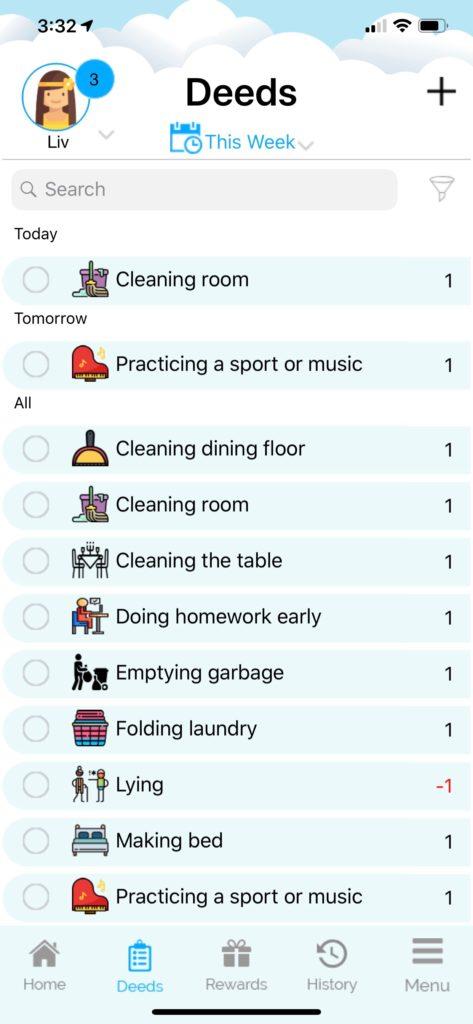 App Screenshot_Weekly History of Deeds