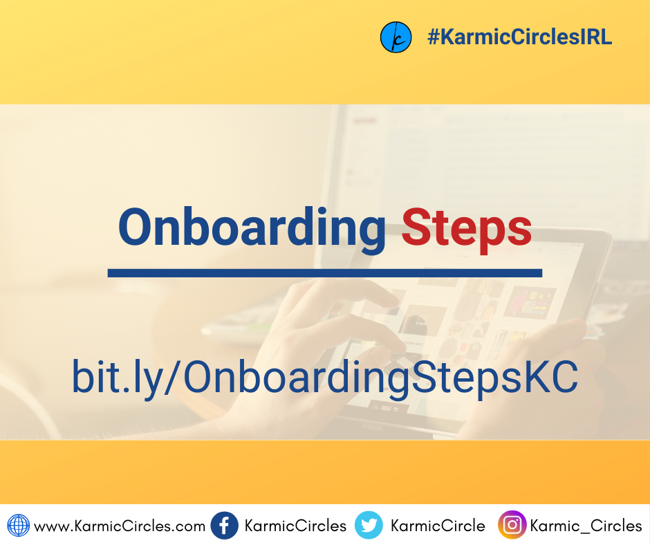 Onboarding Steps for the Karmic Circles app-how tos